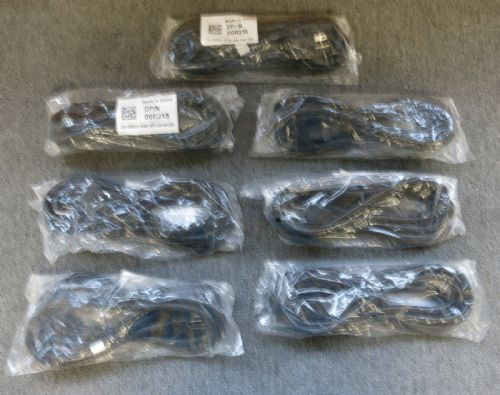 7 x Dell 00R215 New Sealed Heavy Duty 3 Prong 10 Foot 14AWG Server Power Cord